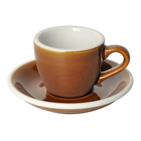 """Espresso kopje met een schoteltje Loveramics """"Egg Caramel"""", 80 ml"""