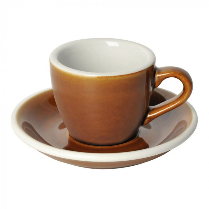"Espresso cup with a saucer Loveramics ""Egg Caramel"", 80 ml"
