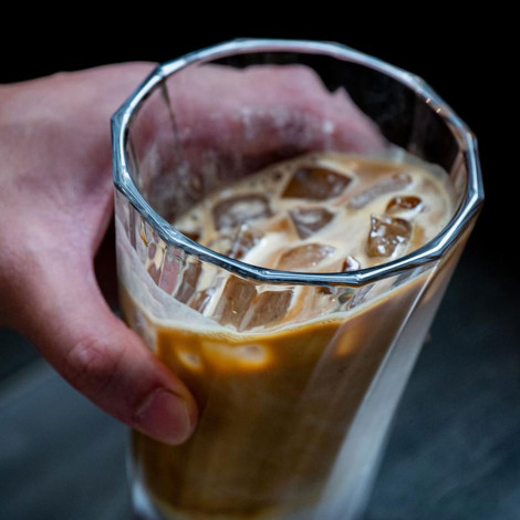 """Twisted latte glass Loveramics """"Urban Glass"""" (Clear), 360 ml"""