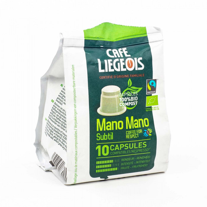 """Kohvikapslid Café Liégeois """"Mano Mano Subtil"""", 10 tk."""