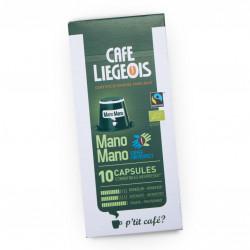 "Coffee capsules Café Liégeois ""Mano Mano"", 10 pcs."