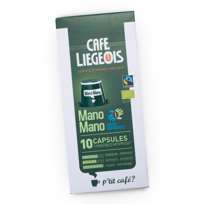 "Kawa w kapsułkach Café Liégeois ""Mano Mano"", 10 szt."