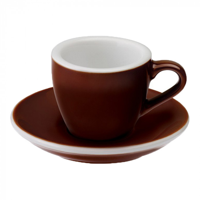 "Espressotasse mit Untertasse Loveramics ""Egg Brown"", 80 ml"