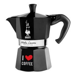 """Espressokocher Bialetti """"Moka Lovers 3–cup Black"""""""