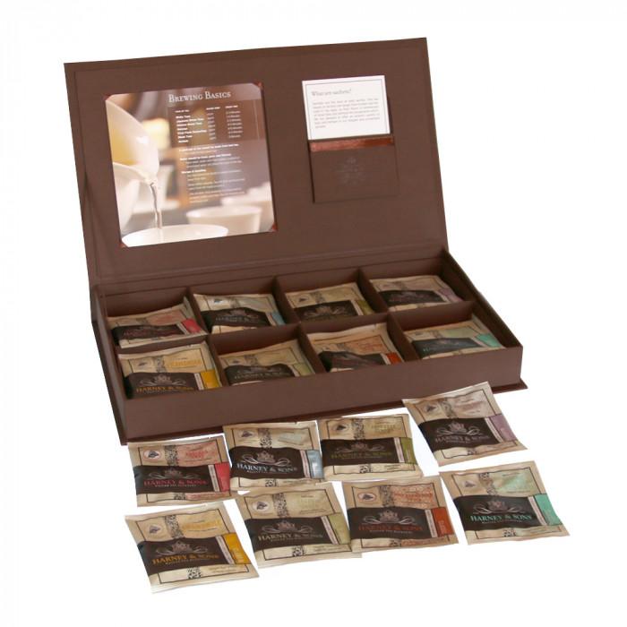 Harney & Sons tēju komplekts linu auduma dāvanu kastītē