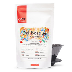 "Kaffeebohnen CafCaf Kaffee ""Filterkaffee del Bosque Washed fermentiert"", 350 g"