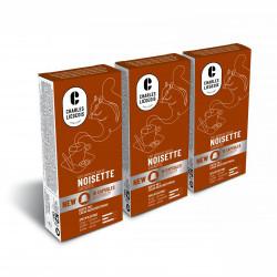 """Kaffeekapseln geeignet für Nespresso®-Set Charles Liégeois """"Noisette"""", 3 x 10 Stk."""