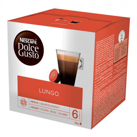 "Kafijas kapsulas NESCAFÉ Dolce Gusto ""Lungo"", 16 gab."