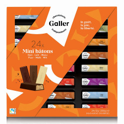 "Schokoriegeln-Set Galler ""Mini Batons Assortment"", 24 Stk."