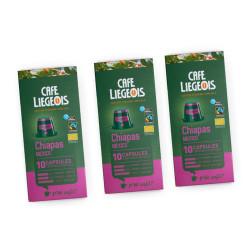 "Kaffeekapseln geeignet für Nespresso®-Set Café Liégeois ""Chiapas"", 3 x 10 Stk."