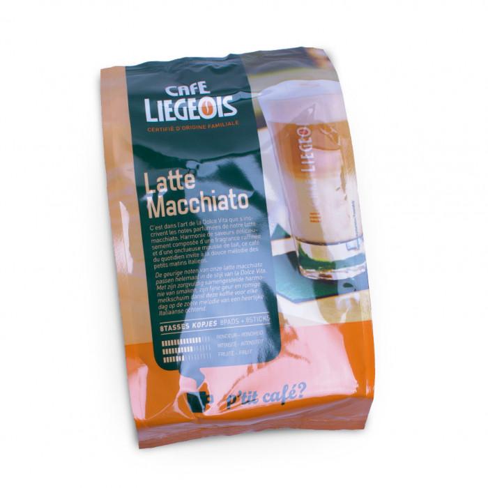 "Kafijas spilventiņi Café Liégeois ""Latte Macchiato"", 152 g, 8×2 gab."