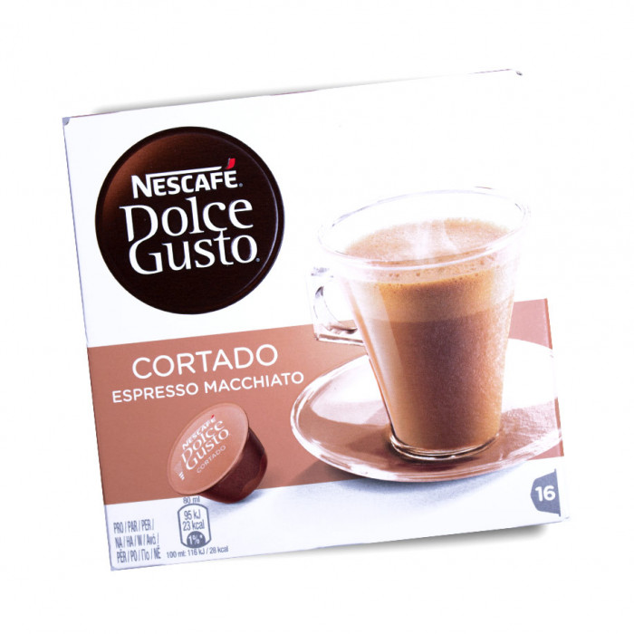 """Kafijas kapsulas NESCAFÉ Dolce Gusto """"Cortado"""", 16 gab."""