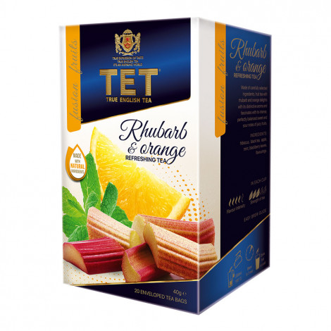 """Tea True English Tea """"Rhubarb & Orange"""", 20 pcs."""