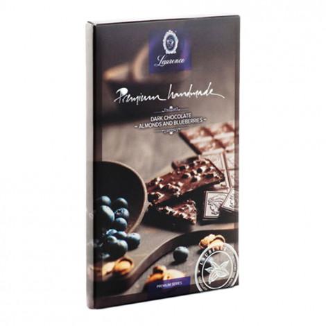 """Schwarze Schokolade mit Mandeln und Heidelbeeren """"Laurence"""", 80 g"""