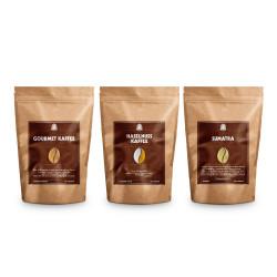 "Kaffeebohnen-Set Henry's Coffee World ""Gourmet Kaffee, Haselnuss Kaffee & Sumatra"", 500 g"