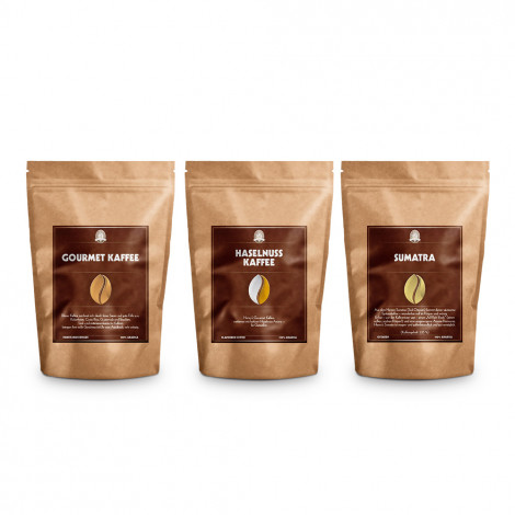 "Kaffeebohnen-Set Henry's Coffee World ""Gourmet Kaffee, Haselnuss Kaffee & Sumatra"", 500 g"