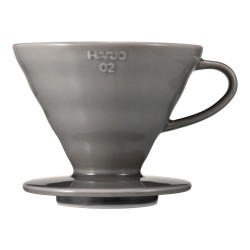 "Ceramic coffee dripper Hario ""V60-02 Grey"""