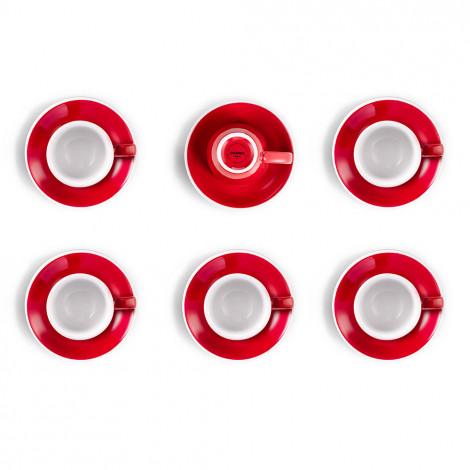"""Set von Espressotassen mit Untertassen Loveramics """"Egg Red"""", 80 ml, 6 Stk."""