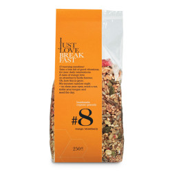 "Ekologiška granola su braškėmis ir mangais IJLB ""#8"", 250 g"