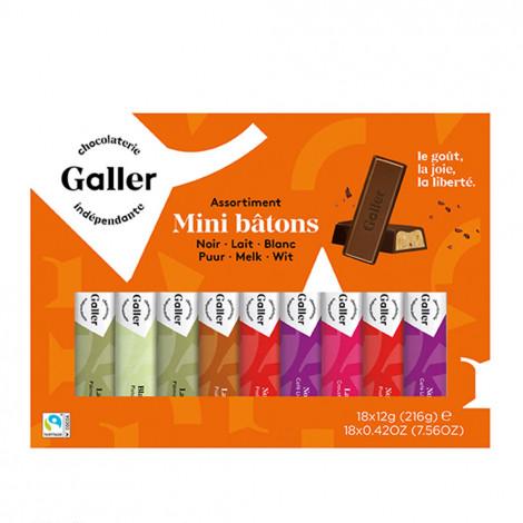 """Gift box mini bars Galler """"Mini Batons Assortment"""", 18 pcs."""