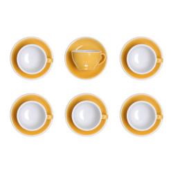"""Set von Latte-Tasse mit Untertasse Loveramics """"Egg Yellow"""", 300 ml, 6 Stk."""
