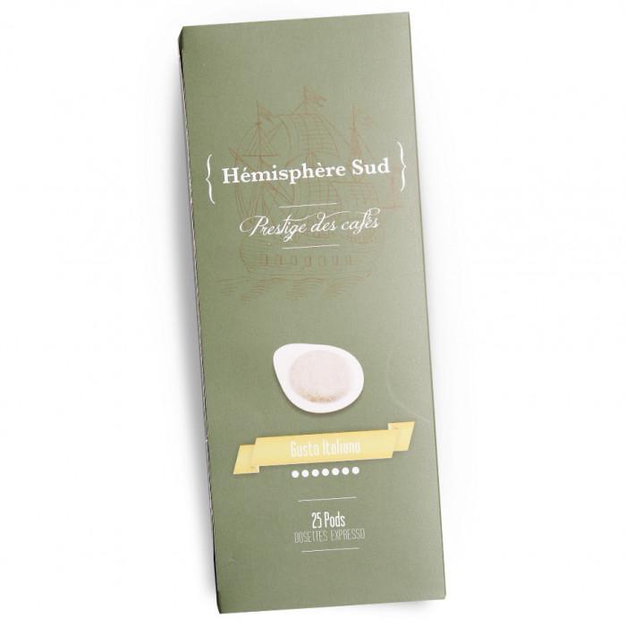"Coffee pods Hémisphère Sud ""Gusto Italiano"", 25 pcs."