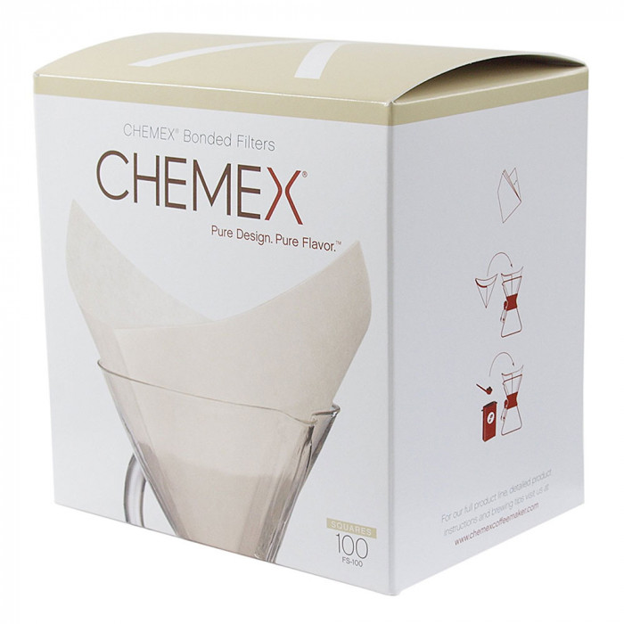 "Square paper filters Chemex ""FS-100"", 100 pcs."