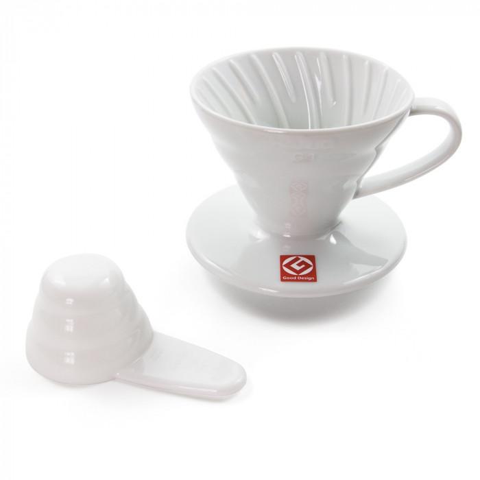 """Ceramiczny zaparzacz filtrowy Hario """"V60-02 White"""""""