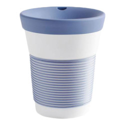 "Mug with a lid Kahla ""Cupit To Go Stormy Blue"", 350 ml"