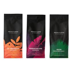 "Specializēto kafijas pupiņu komplekts ""Nicaragua Maragogype"" + ""Papua New Guinea Sigri"" + ""Guatemala La Hermosa"""